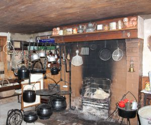 Kitchen of the original house at Parkhill Farm as it looks today