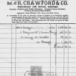 Original Receipt for the first tractor to arrive in the Beagh