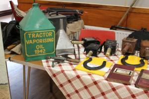Display of vintage items